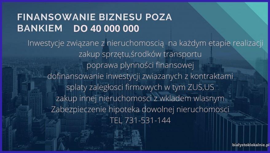 KOMPLEKSOWE POZABANKOWE FINANSOWANIE FIRM I ROLNIKOW