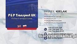 Międzynarodowy przewóz przesyłek i towarów na trasie PL-UK-PL - Białystok